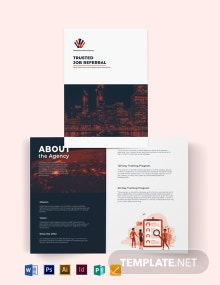 Corporate Company Profile Bi-Fold Brochure Template