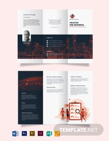 Corporate Company Profile Tri-Fold Brochure Template