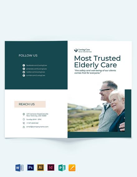 Elder/Senior Care Bi-Fold brochure Template