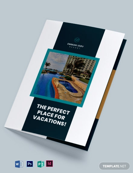 Resort Promotional Bi-Fold Brochure Template