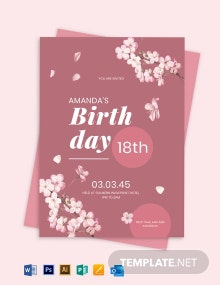 18th Birthday in Rose Gold Template