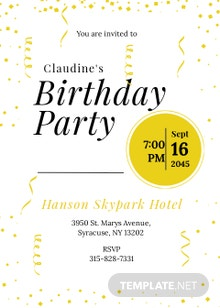 Black and Gold Party Invitation Template