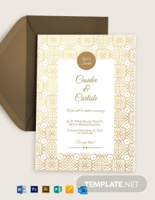 Thangam Wedding Invitation Template