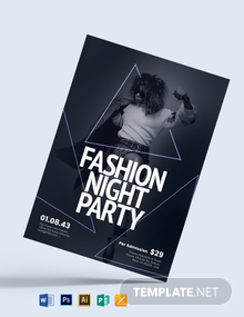 Fashion Night Party Flyer Template