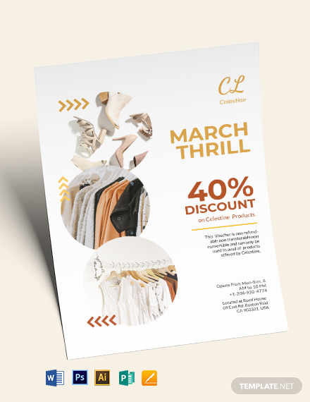 Fashion Product Gift Voucher Flyer Template