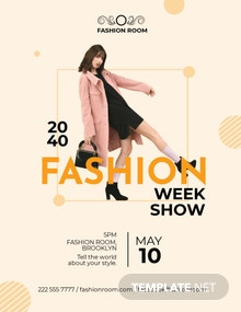 Fashion Week Show Flyer Template