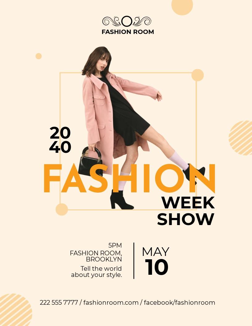 Fashion Week Show Flyer Template