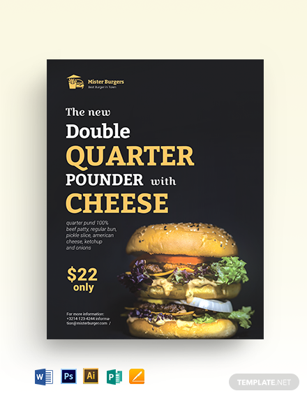 Fast Food Promotion Flyer Template