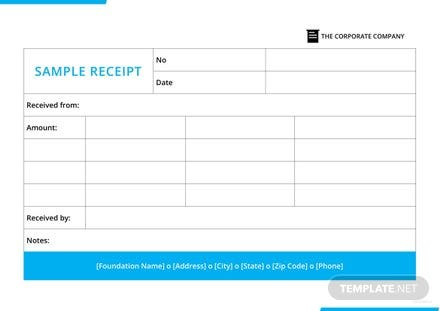 Sample Receipt Template