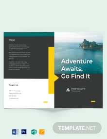 Travel & Tour Bi-Fold Brochure Template