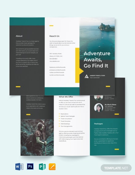 Travel & Tour Tri-Fold Brochure Template