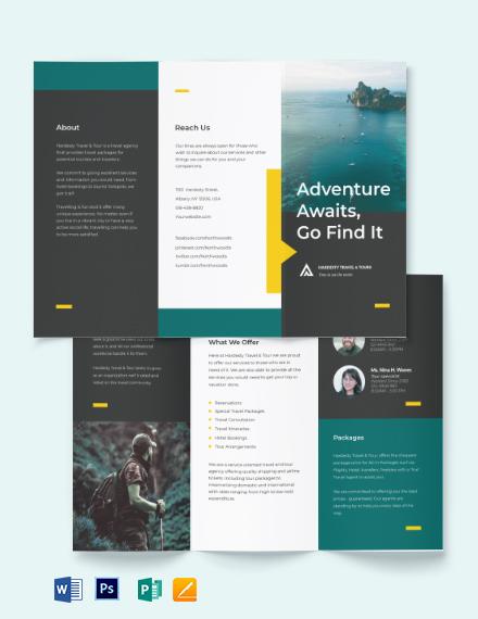 Travel & Tour Tri-Fold Brochure Template