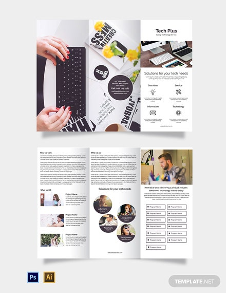 Free Startup Business Tri-Fold Brochure Template