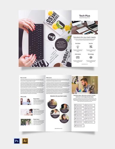 Startup Business Tri-Fold Brochure Template