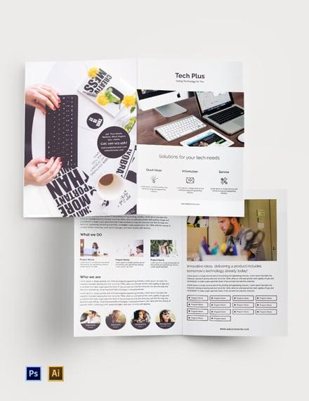 Free Startup Business Bi-Fold Brochure Template