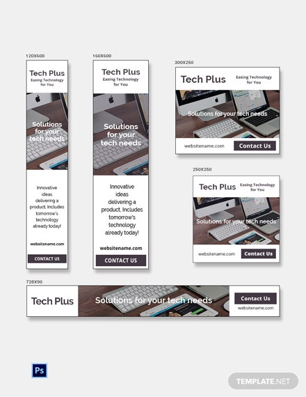 Free Startup Business Banner Ads Template