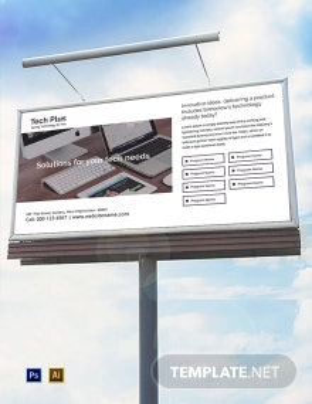 Free Startup Business Billboard Template