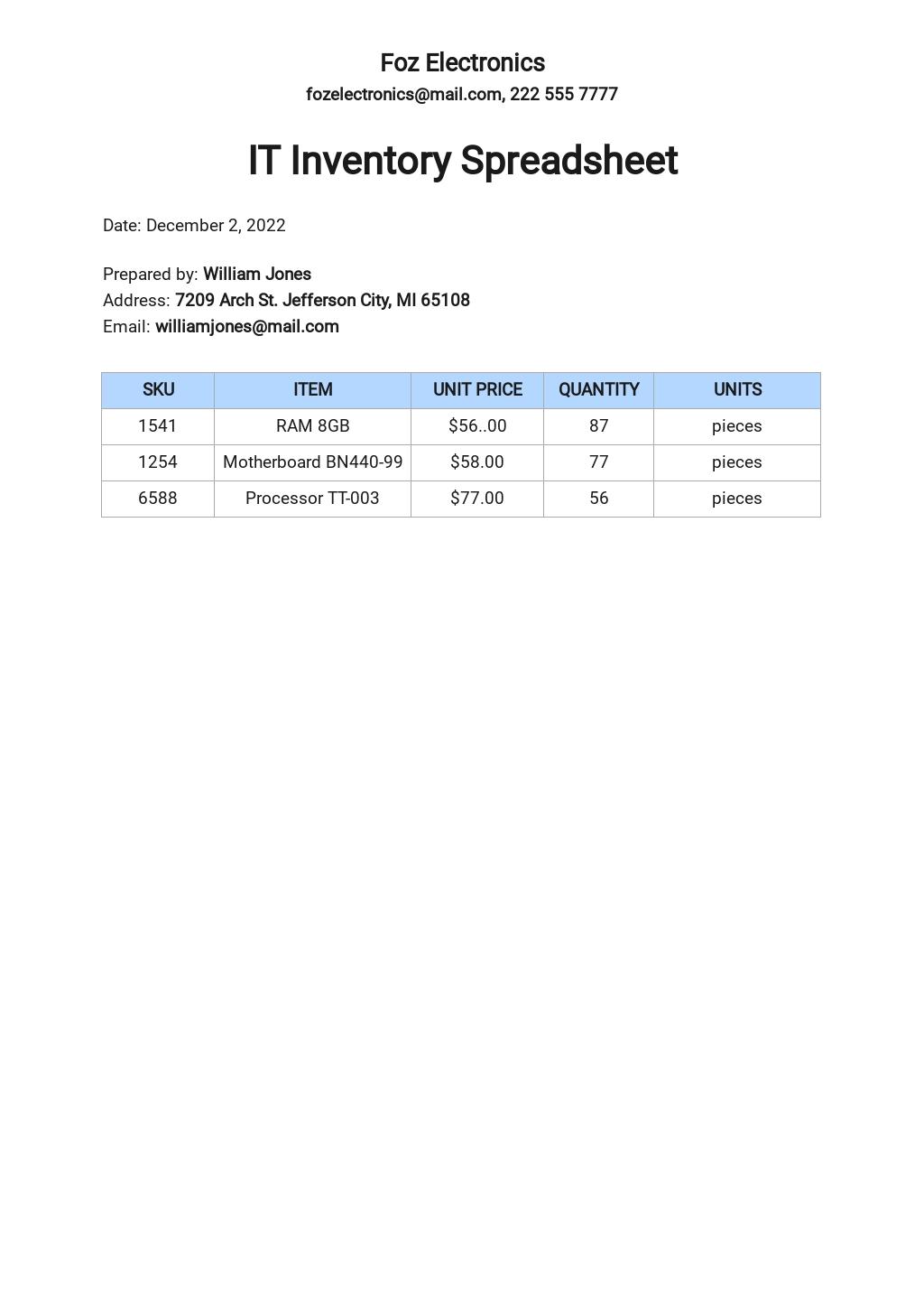 Free IT Inventory Spreadsheet Template.jpe