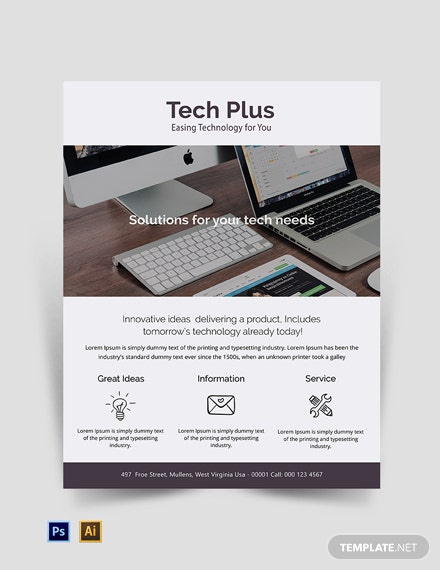 Free Startup Business Flyer Template