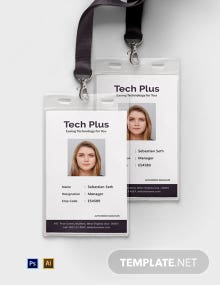 Free Startup Business ID Card Template