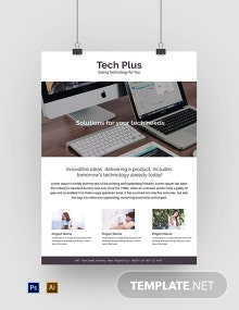 Free Startup Business Poster Template