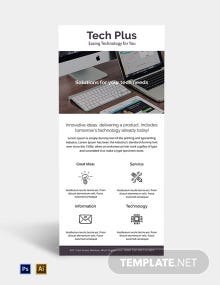 Free Startup Business Rack Card Template