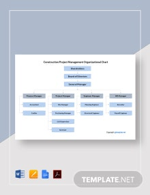 Free Construction Project Management Organizational Chart Template