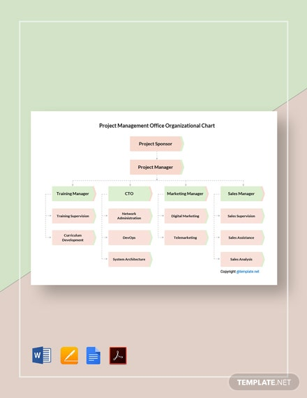 Free Project Management Office Organizational Chart Template