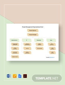 Free Sample Project Management Organizational Chart Template