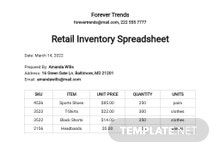 Free Retail Inventory Spreadsheet Template