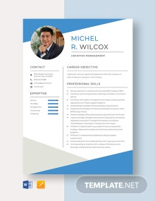 Logistics Management Resume Template