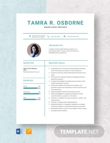 Marine Diesel Mechanic Resume Template