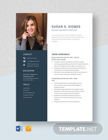 Market Research Director Resume Template