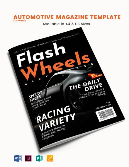 Automotive Magazine Template