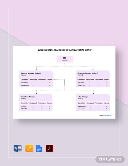 Free Simple Succession Planning Organizational Chart Template