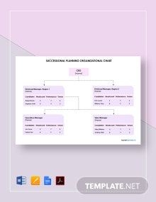 Simple Succession Planning Organizational Chart Template