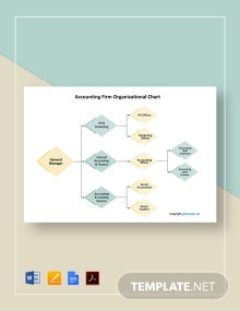Free Accounting Firm/Department Organizational Chart Template