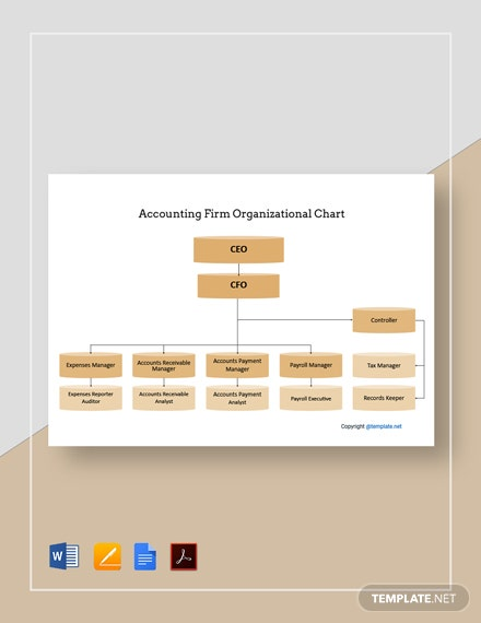 Sample Accounting Firm Organizational Chart Template