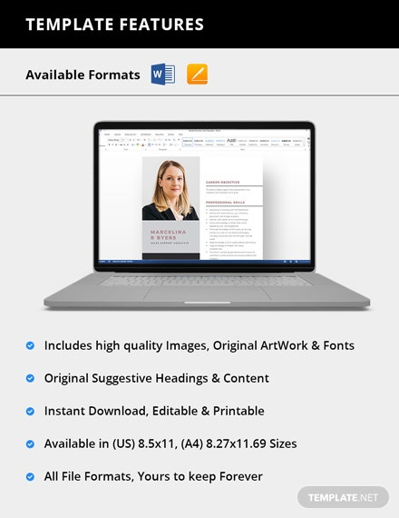Simple Sales Support Associate Resume