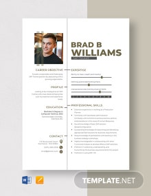 SAP Trainee Resume Template