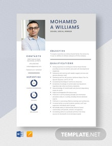 School Social Worker Resume Template
