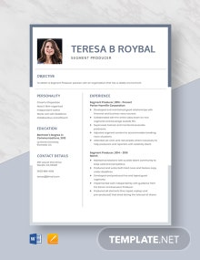 Segment Producer Resume Template