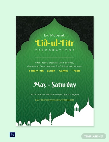 Free Eid ul Fitr Invitation Template