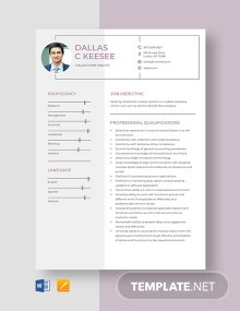 Collections Analyst Resume Template
