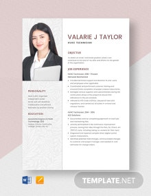 HVAC Technician Resume Template