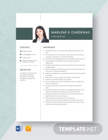 Lodge Manager Resume Template