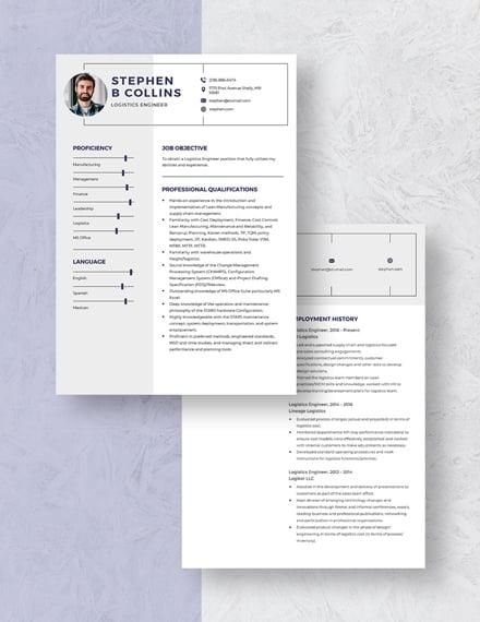 Logistics Engineer Resume Download