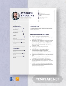 Logistics Engineer Resume Template
