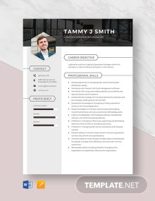 Logistics Operations Manager Resume Template