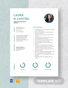 Loss Prevention Retail Resume Template